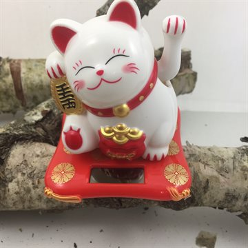 Cat - Lucky cat (moving lucky cat  White)