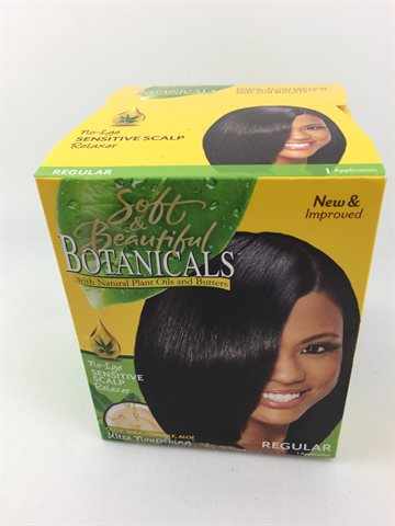 Soft & Beautiful Botanical sensitive Scalp Hair relaxer Regular