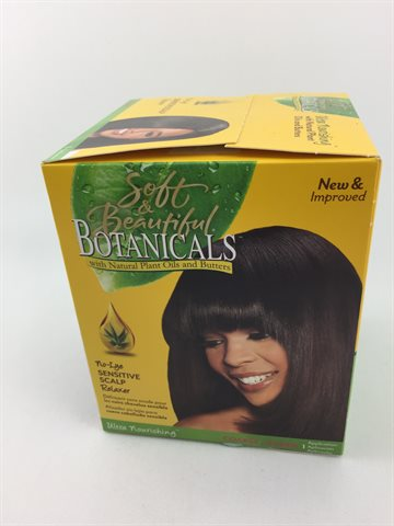 Soft & Beautiful Botanical sensitive Scalp Hair relaxer Super