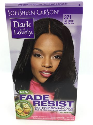 D & L Hair Color Natural Jet Black Colour no.371 (UDSOLGT)