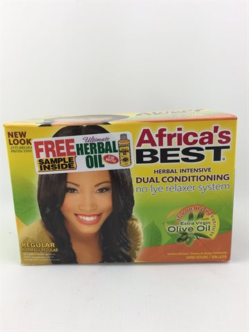 African Best Organics Olive Oil Relaxer Regular Dual Conditioning