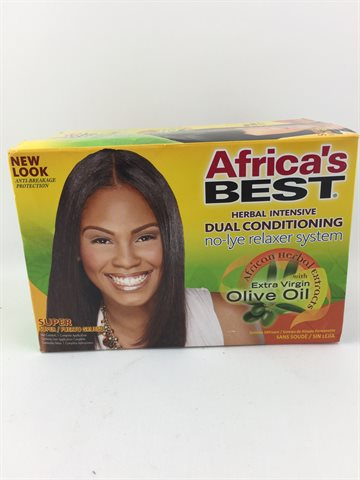 African Best Organics Olive Oil Relaxer Super Dual Conditioning