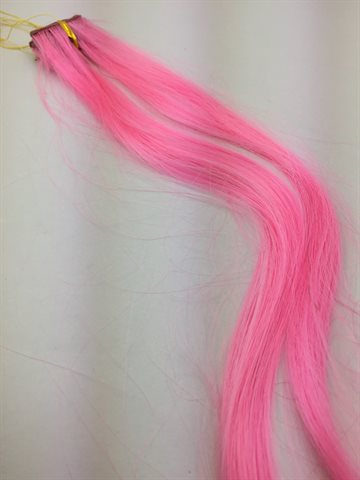 Synthitic Fantasy Hair in clips Pink one pcs.
