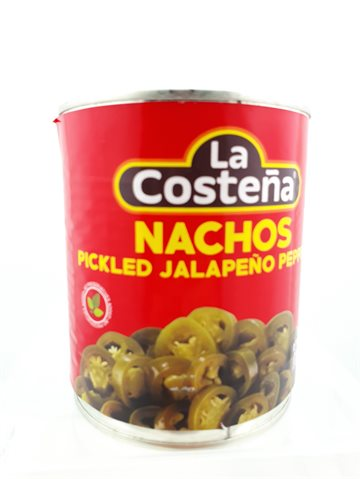 Sliced Jalepenos Chili Peppers Nachos Slice 800gr- Mexicanske