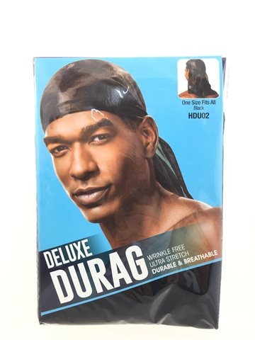 Durag Black. Deluxe. (OUT OF STOCK)