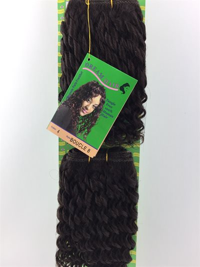 100% Human Hair, Boucle 8 Colour 4 og 2 Pcs. in one Pack.