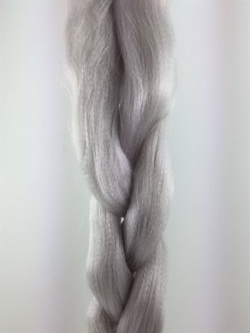 Exception  Braid Hair, Hot water (kanekalon) 165 Gr - 100-110cm long. Colour White.
