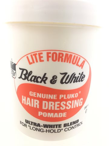 Black & White hair dressing pomade for Long  - Hold Control 200 ml. (UDSOLGT)