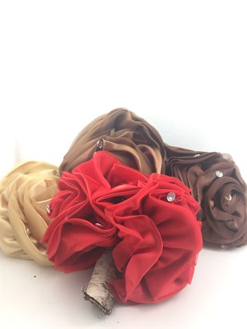 Hair clips large with flowers (Different Colour)