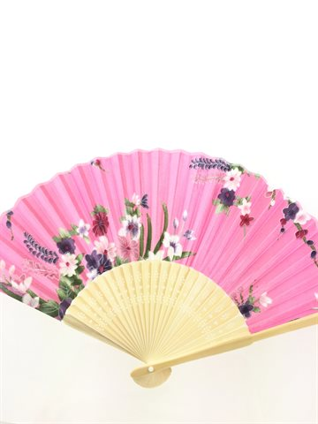 Hand fan different color - Håndvifte. 1 stk.