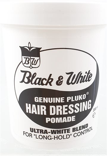 Black & White hair dressing pomade 200 Ml. Long Hold Control.