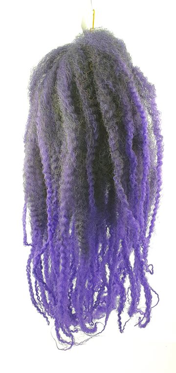 "Afro Twist Kinky Braid hair 45 cm (18"")100 g. Mixed Colour (blue & Black)"