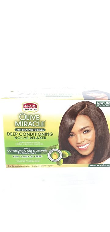 African Pride Olive Miracle Conditioning Relaxer regular for adults