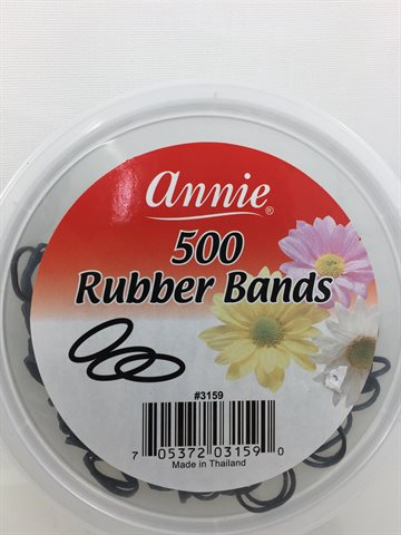 Rubber band Black (sort) 500 stk