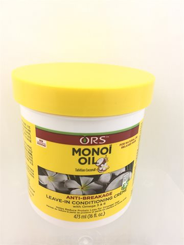 ORS Monoi Oil Anti breakage leave in Conditioning Cream 473 ml.