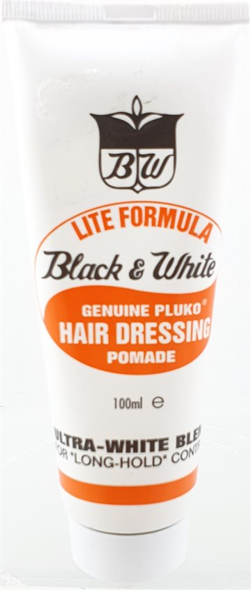 Black & White hair dressing pomade 100 ml. Lite Formula.