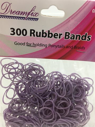 Rubber band Purple 300 stk.