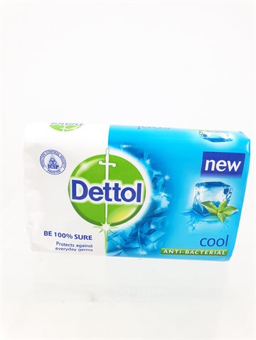 Dettol Soap Anti bacterial Cool - Be 100% sure Protects against everyday Germs (Sæbe 85 g)