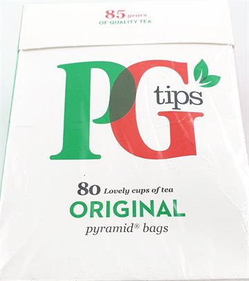 P.G.Tips Sort te original 80 styk - i brev - 275 g.