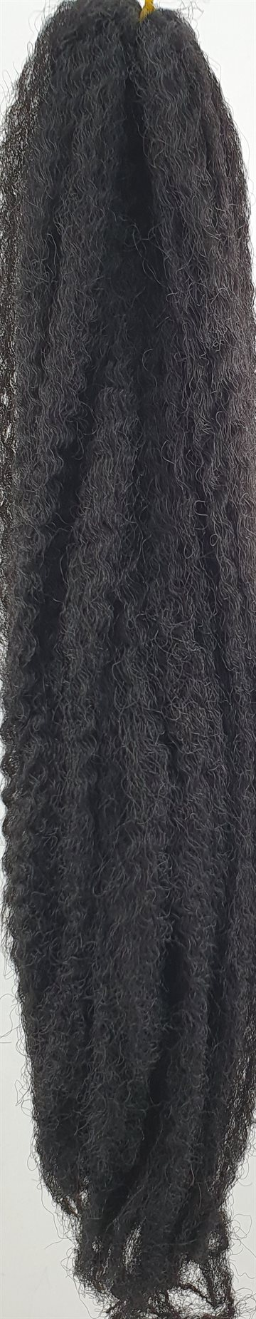 "Afro Kinky Braid hair 50 cm (20"") 60 g. Colour 1  Black."