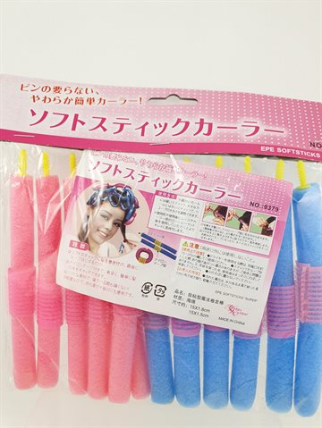 Spong Hair Rollers 12 PCS. 18 Cm. Long