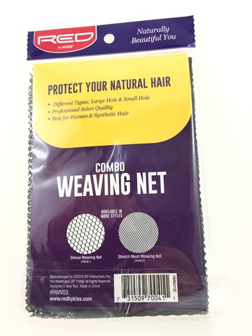 Hair net Black Weaving Net 2 Pcs.