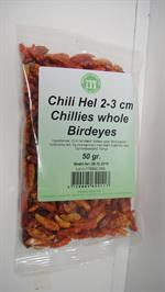Chili tørrede (Bird eys) 50 Gr.