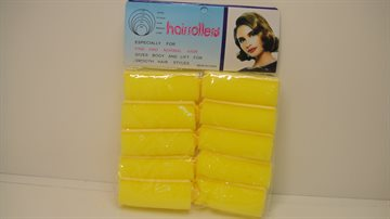 Spong Hair Rollers 12 Yellow - 7 Cm. Long