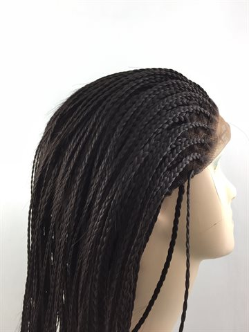 "Wig in Braid, 14"" inches (32 cm) colour 4 Dark Brown"