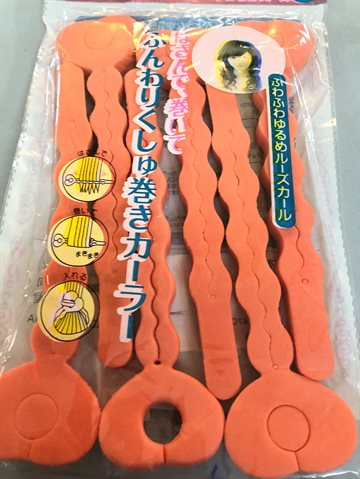 Spong Hair Rollers 22 Cm. Long 6 pices